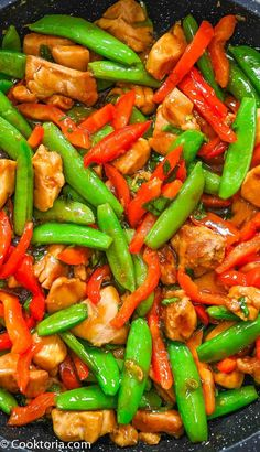This Chicken Snap Pea Stir-Fry recipe is a fast and simple meal idea that everyone will love. Made using just a few ingredients, it is a truly delicious meal full of protein and veggies. Good Healthy Recipes, Real Food Recipes, Fancy Dinner Recipes, Dinner Ideas, Spiralizer Recipes, Snap Peas, Best Chicken Recipes, Clean Eating Recipes, Quick Easy Meals