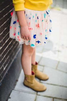 Boots with a skirt -sharp look love it!! #kids style