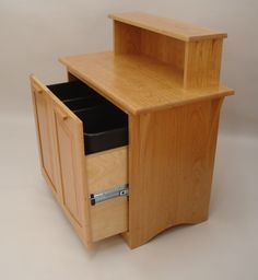 Solid Cherry Recycling Cabinet