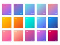 Adobe XD gradient examples - really gorgeous. Ui Color, Color Shades, Gradient Color, Logo Color, Web Design, Design Plat, Graphic Design, Flat Color Palette, Colour Pallete