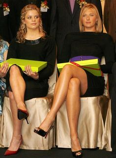 Maria Sharapova legs at an event - Sexy Leg Cross Maria Sharapova Hot, Maria Sarapova, Tennis Players Female, Beautiful Athletes, Good Looking Women, Sporty Girls, Foto Pose, Great Legs, Athletic Women