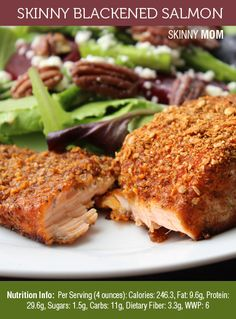 Skinny Blackened Salmon - best salmon recipe I've ever tried! A MUST SHARE!