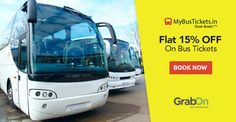 Save On Your Travel Expenses By Using #MyBusTickets. Get Flat 15% OFF On #BusTickets. http://www.grabon.in/mybustickets-coupons/