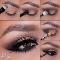 "Dark smokey brown eyes History of eye makeup ""Eye care"", put simply, ""eye make-up"" has Natural Eye Makeup, Eye Makeup Tips, Smokey Eye Makeup, Eyeshadow Makeup, Beauty Makeup, Makeup Ideas, Makeup Hacks, Makeup Tutorials, Makeup Products"