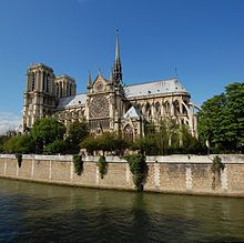 Notre Dame de Paris (IPA:[nɔtʁ dam də paʁi]; French for Our Lady of Paris), also known as Notre Dame Cathedral or simply Notre Dame,[2] is a Gothic, Roman Catholic cathedral on the eastern half of the Île de la Cité in the fourth arrondissement of Paris, France. It is the cathedral of the Catholic Archdiocese of Paris: that is, it is the church that contains the cathedra (official chair) of the Archbishop of Paris, currently André Vingt-Trois. The cathedral treasury houses a reliquary with t...
