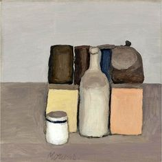 Buy online, view images and see past prices for - Giorgio Morandi , Natura Morta Oil on canvas. Invaluable is the world's largest marketplace for art, antiques, and collectibles. Italian Painters, Italian Artist, Simple Subject, Renaissance Artists, Painting Still Life, Be Still, Painting & Drawing, Oil On Canvas, Paintings