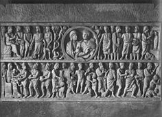 Sarcofago dogmatico Autoresconosciuto Data320-340 circa Materialemarmo Dimensioni131 cm  UbicazioneMusei Vaticani (Museo Pio Cristiano), Roma