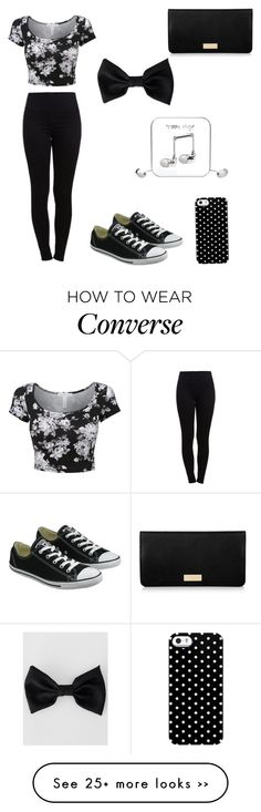 """Untitled #19"" by magagrebin on Polyvore featuring Pieces, Converse, Uncommon, Happy Plugs, American Apparel and Henri Bendel"