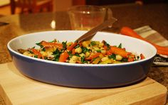 Roasted Golden Beet, Carrot and Chickpea Salad is so sweet and delicious - serves 4 as a main dish.