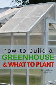 GREENHOUSE DIY PROJECT. How to build a greenhouse and what to plant in a greenhouse.