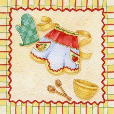 Cookbook Dividers Clip Art   Ahşap boyama objelerimizde kullanabileceğiniz mutfak temalı dekupaj ...