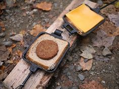 Pie Iron Breakfast Sandwiches – The Camp Gal Mountain Pie Maker, Mountain Pies, Campfire Breakfast, Campfire Food, Backpacking Food, Camping Meals, Camping Hacks, Camping Recipes, Camping Stuff