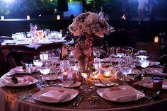 CBV161 Weddings Riviera Maya Tall elegant Vintage centerpieces white and light pink floral / bodas centro de mesa rosa alto y elegante tonos rosa bajo y crema