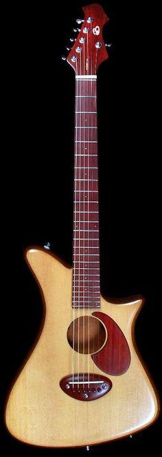frettedchordophones: The Acoustic Retro by Dan Becker Guitars =Lardys Chordophone of the day - a year ago --- https://www.pinterest.com/lardyfatboy/
