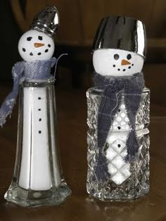 salt shaker snowmen