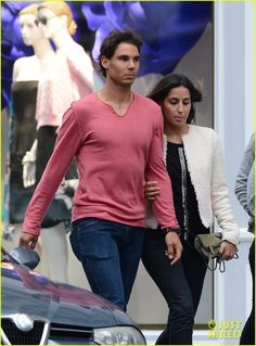 Rafael Nadal Goes Shirtless at French Open, Strolls with Girlfriend Xisca Perello: Photo Rafael Nadal strips off his shirt after winning the men's singles match held during the 2014 French Open Semi-Finals on Monday (June at Roland Garros in Paris,… Rafael Nadal Fans, Rafa Nadal, French Open, Tennis Players, The Man, Girlfriends, Hot Guys, Female, Mens Tops