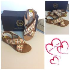 """SPRING CLEARANCEHouse of Harlow 1960 Sandal - Sizing: True to size. - Open toe - Crisscross vamp - Adjustable ankle strap with buckle closure - Approx. 0.25"""" heel - Made in Italy Materials: Leather upper, synthetic sole Any questions please ask  No trades  ✅ Reasonable offers welcomed. ✅ Happy Poshing House of Harlow 1960 Shoes Sandals"""