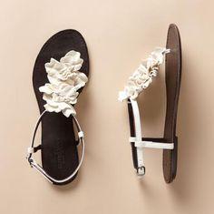 9cd46dbb992  pretty leather sandals with trim White Wedding Sandals