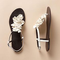 Hibiscus Sandals in white; I'm afraid my feet would hurt after wearing these all day ...