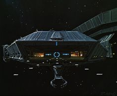 On approach to Galactica land bay. - Battlestar Galacatica (1978)