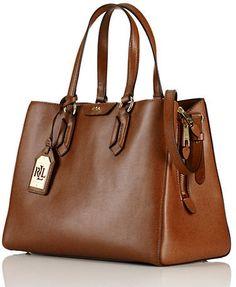 809ec869e4 Lauren Ralph Lauren Tate Leather Center Zip Satchel My Bags