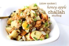 Slow Cooker Honey Apple Challah Stuffing — LocalSavour