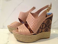 Jessica Simpson tribal and stud espadrille wedges. Just got these for $10 at TJ Maxx!
