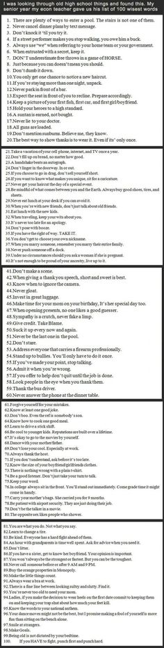 List of 100 wisest words