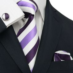 Purple / White and Lavender Toramon Silk Tie Set JPM25V – Toramon Necktie Company