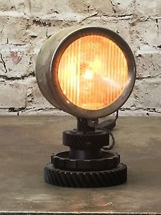 Industrial Lamp Steampunk Style Boat Headlight with Gear base