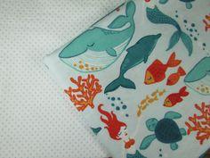 Baby Blanket Handmade Cute Sea Animal and Mermaid Print Blanket Baby Shower Gift Stroller Blanket