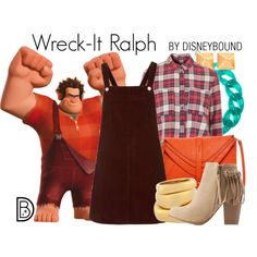 Wreck-It Ralph by leslieakay on Polyvore featuring Topshop, Charlotte Russe, Big Buddha, Henri Bendel, DIANA BROUSSARD, Itsy Bitsy, RALPH, disney, disneybound and disneycharacter