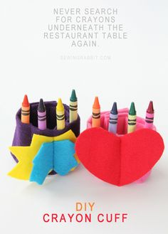 Crayon Cuff DIY - Cute Valentine's Day gift for kids!!!