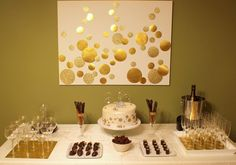 In love with all of this - Champagne birthday. Have to modify and use at new year