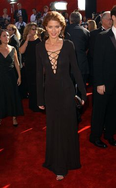 The 54th Annual Emmy Awards - Arrivals- Debra Messing in Michael Kors