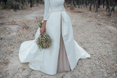 2017 White and Champagne Wedding Dresses A Line Bateau Neck Backless Country Bridal Gowns with Sleeves Chapel Train Custom Made Dream Wedding Dresses, Bridal Dresses, Wedding Gowns, Wedding Day, Blush Pink Weddings, Bridal Style, Wedding Styles, Marie, Bouquet