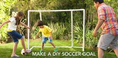 Get Your Game on with a DIY Soccer Goal and tons of other DIY ideas at Lowe'sl