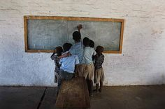 Children in rural NW, South Africa, left unattended  when their teachers don't come to school.