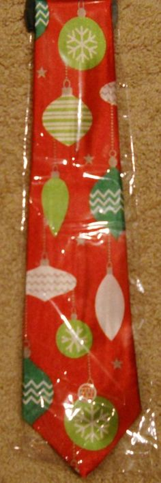 Musical Tie Ornaments New  Plays Jingle Bells Christmas Gift Party Red Green #ChristmasHouse #NeckTie