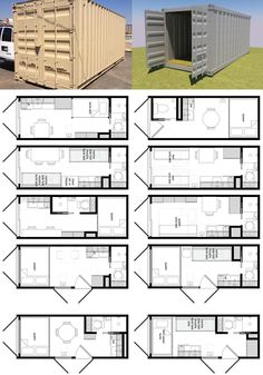 Some brilliant ideas for 20ft containers by Michael Janzen from Tiny House Living