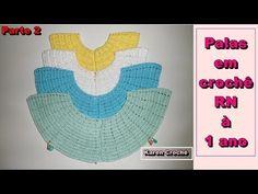 Palas redondas em crochê - RN à 1 ano - Parte 2/2 - YouTube Girls Dresses, Baby Dresses, Crochet Baby, Alice, Elsa, Youtube, Fabric, Manual, Fashion