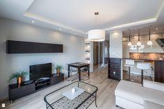 Apartament 56mkw - zdjęcie od IVANISHVILI - Salon - Styl Nowoczesny - IVANISHVILI Design Case, Conference Room, Flat Screen, Interior, Modern, Kitchen, Table, Furniture, Home Decor