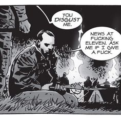Breaking news: He dosen't give a fuck. Negan cares too much for Lucille. Walking Dead Characters, Walking Dead Series, The Walking Dead, Negan Lucille, Lucille Twd, You Disgust Me, Walk The Earth, Great Tv Shows, Walking Dead