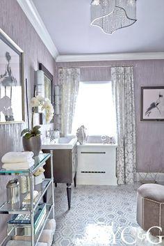 Hallway Bath by Karen Ferreyra Interiors