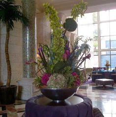 May 2017 - The grandeur of hotel florals. See more ideas about Floral arrangements, Flower arrangements and Floral. Large Flower Arrangements, Flower Centerpieces, Flower Decorations, Fresh Flowers, Beautiful Flowers, Cascade Bouquet, Church Flowers, Artificial Flowers, Hotel Lobby