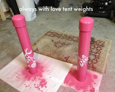 PVC DIY Tent Weights
