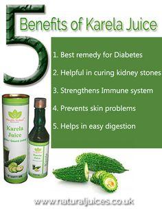 5 Benefits of Karela (Bitter Gourd) Juice - https://www.naturaljuices.co.uk/products/karela-bitter-gourd-juice-500ml/