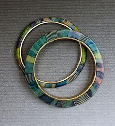 Polymer on brass bangles | Flickr - Photo Sharing!