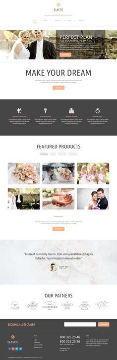 Elastic - Wedding WordPress Theme #webdesign Download: http://themeforest.net/item/elastic-wedding-wordpress-theme/11206018?ref=ksioks