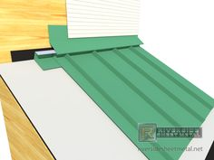 Head Wall Flashing Installation With Metal Roofing Panels   View 1 .